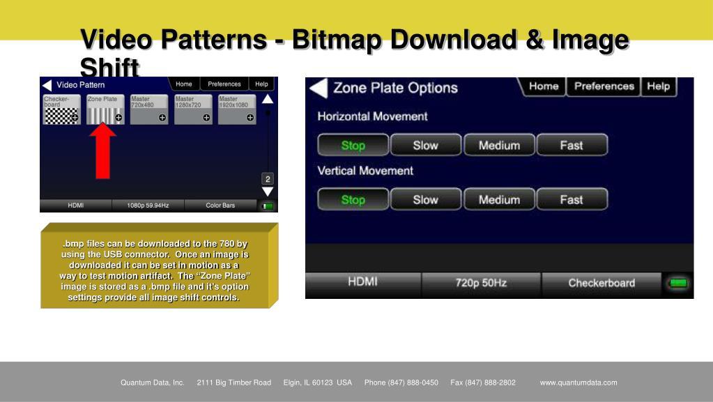 Video Patterns - Bitmap Download & Image Shift