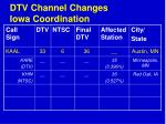 dtv channel changes iowa coordination