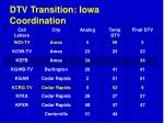 dtv transition iowa coordination