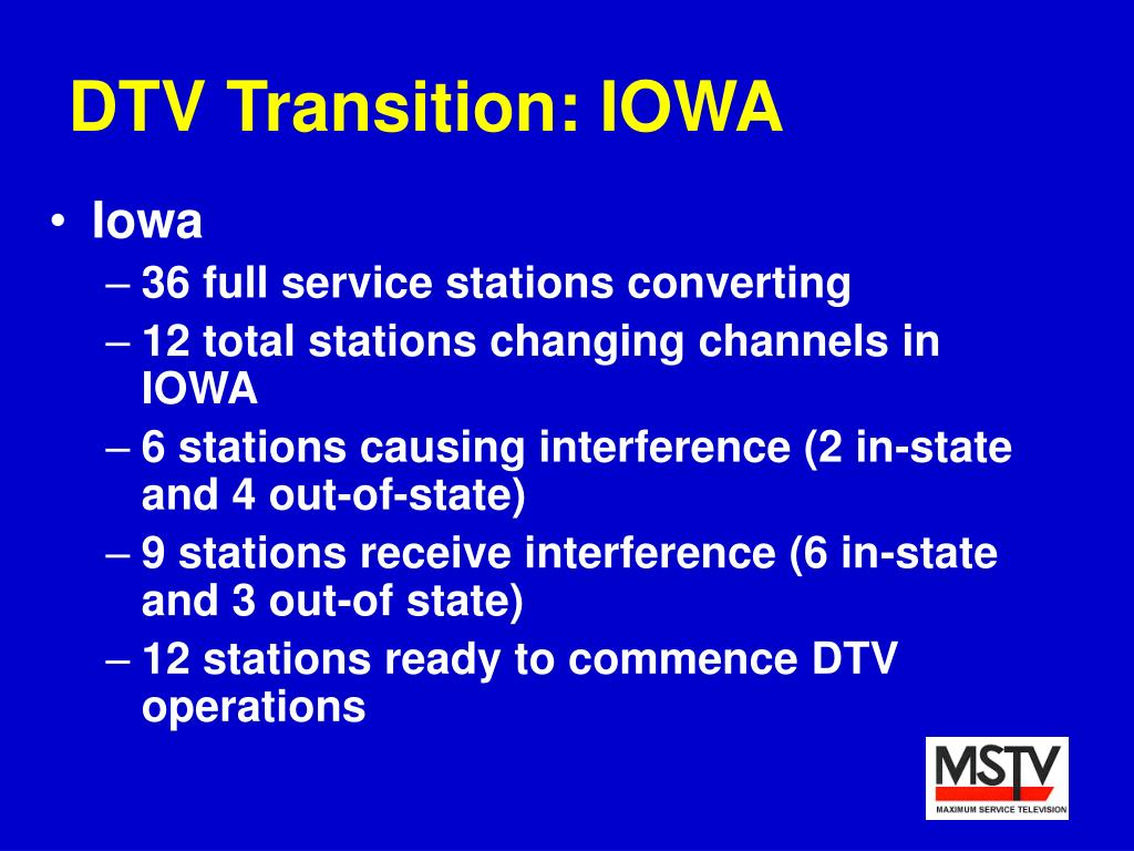 DTV Transition: IOWA