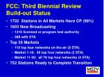 fcc third biennial review build out status
