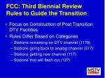 fcc third biennial review rules to guide the transition