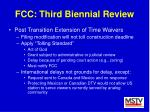 fcc third biennial review31