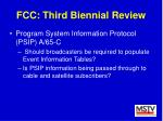 fcc third biennial review45