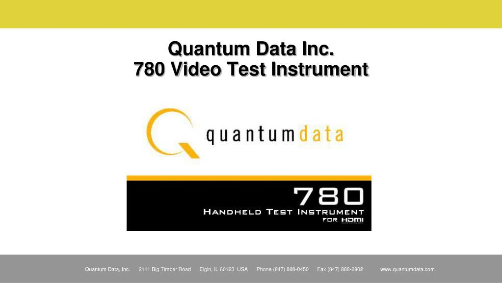 quantum data inc 780 video test instrument l.