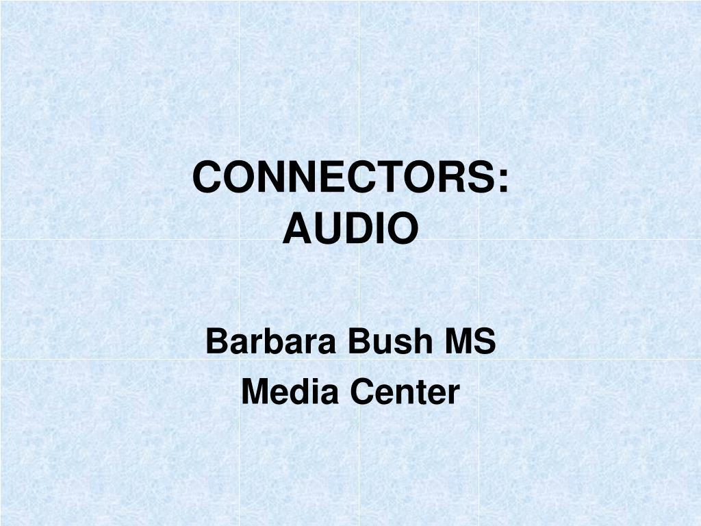 connectors audio l.