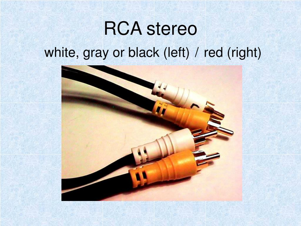 RCA stereo