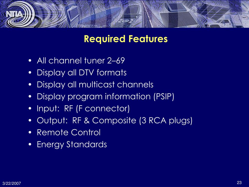 Required Features