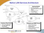 native lan services architecture