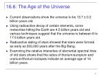 16 6 the age of the universe