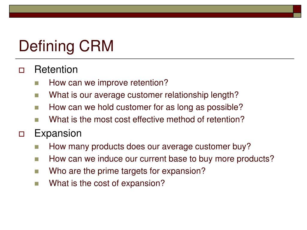 PPT - Customer Relationship Management PowerPoint