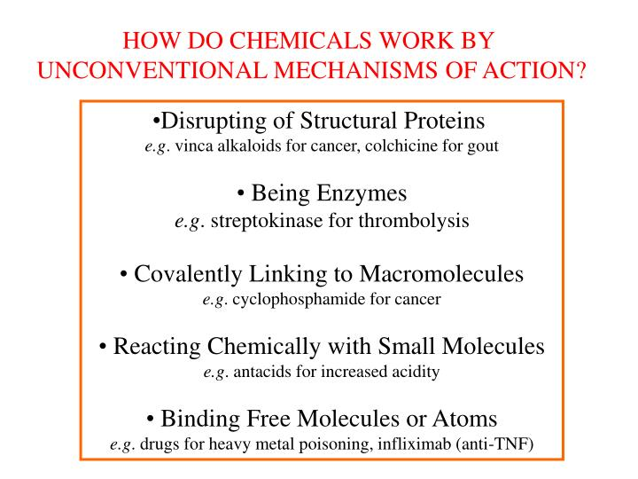HOW DO CHEMICALS WORK BY