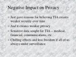 negative impact on privacy
