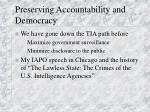 preserving accountability and democracy
