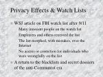 privacy effects watch lists