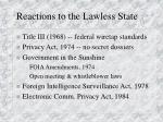 reactions to the lawless state