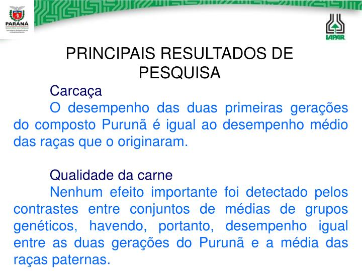 PRINCIPAIS