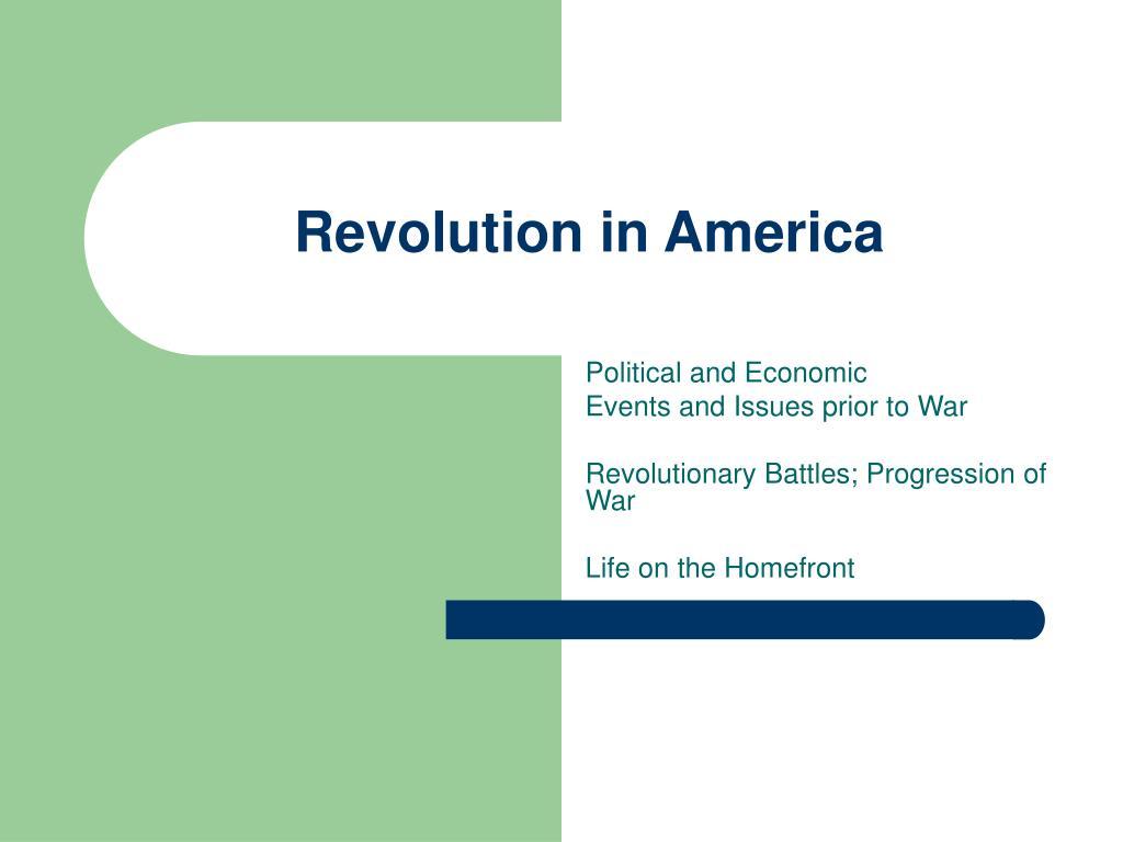 revolution in america l.