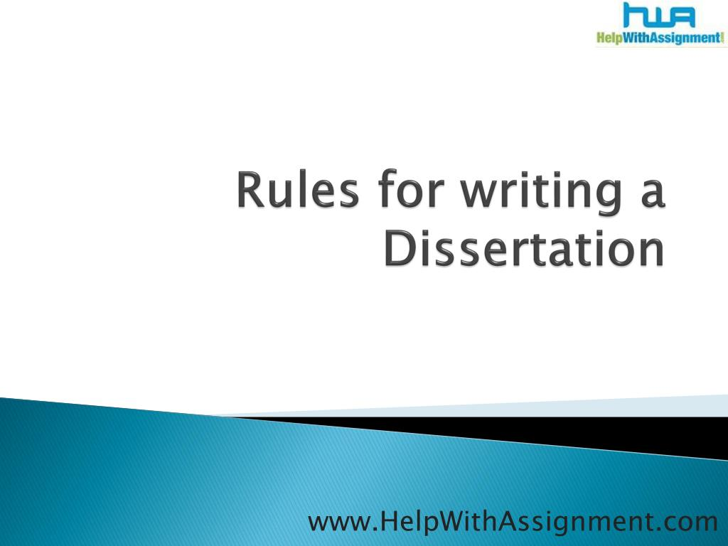 rules for writing a dissertation l.