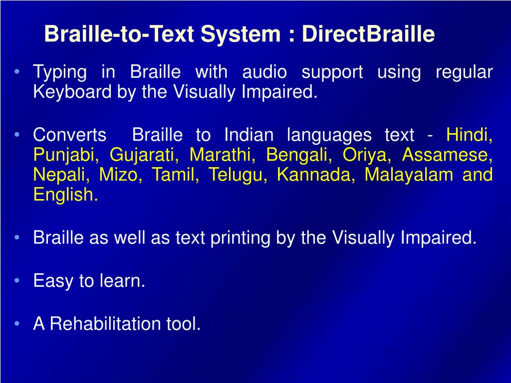 PPT - E-Braille PowerPoint Presentation - ID:829195