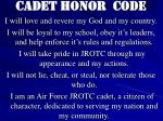 cadet honor code