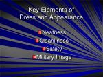 key elements of dress and appearance