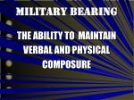 military bearing