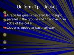 uniform tip jacket