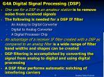 g4a digital signal processing dsp