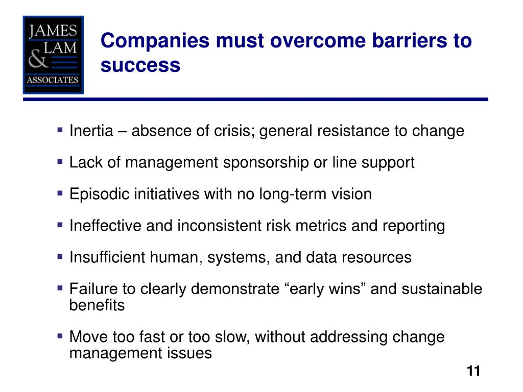 Companies must overcome barriers to success