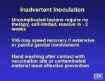 inadvertent inoculation1