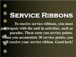 service ribbons