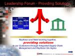 leadership forum providing solutions