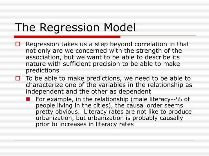 The Regression Model
