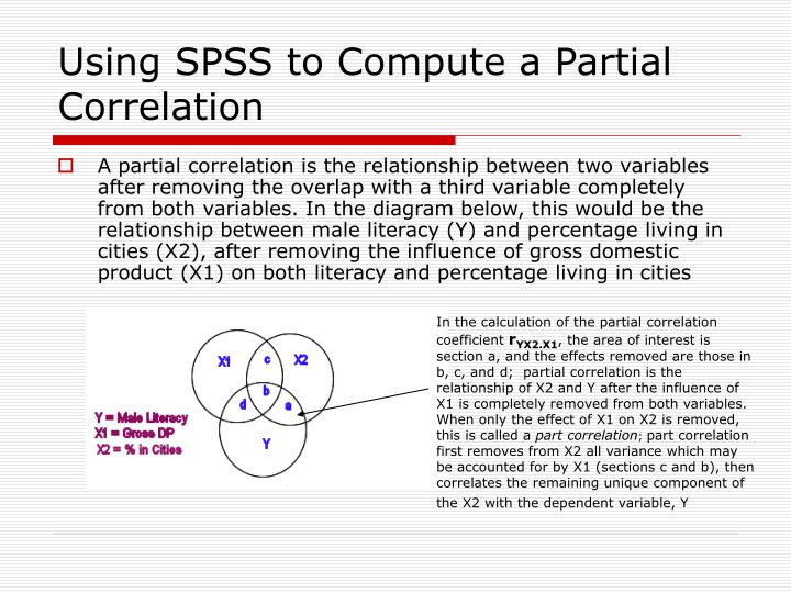 Using SPSS to Compute a Partial Correlation