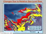 changes due to relative sea level rise