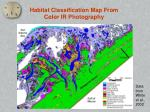 habitat classification map from color ir photography