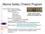 marine safety trident program