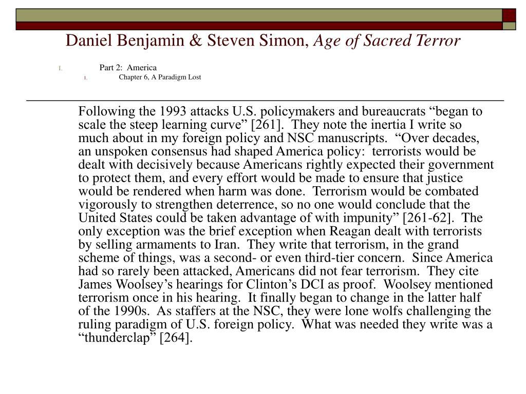 Daniel Benjamin & Steven Simon,