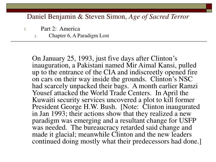 Daniel benjamin steven simon age of sacred terror2