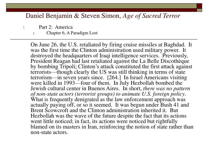 Daniel benjamin steven simon age of sacred terror3