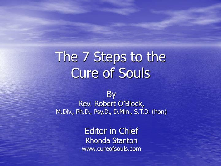 the 7 steps to the cure of souls n.