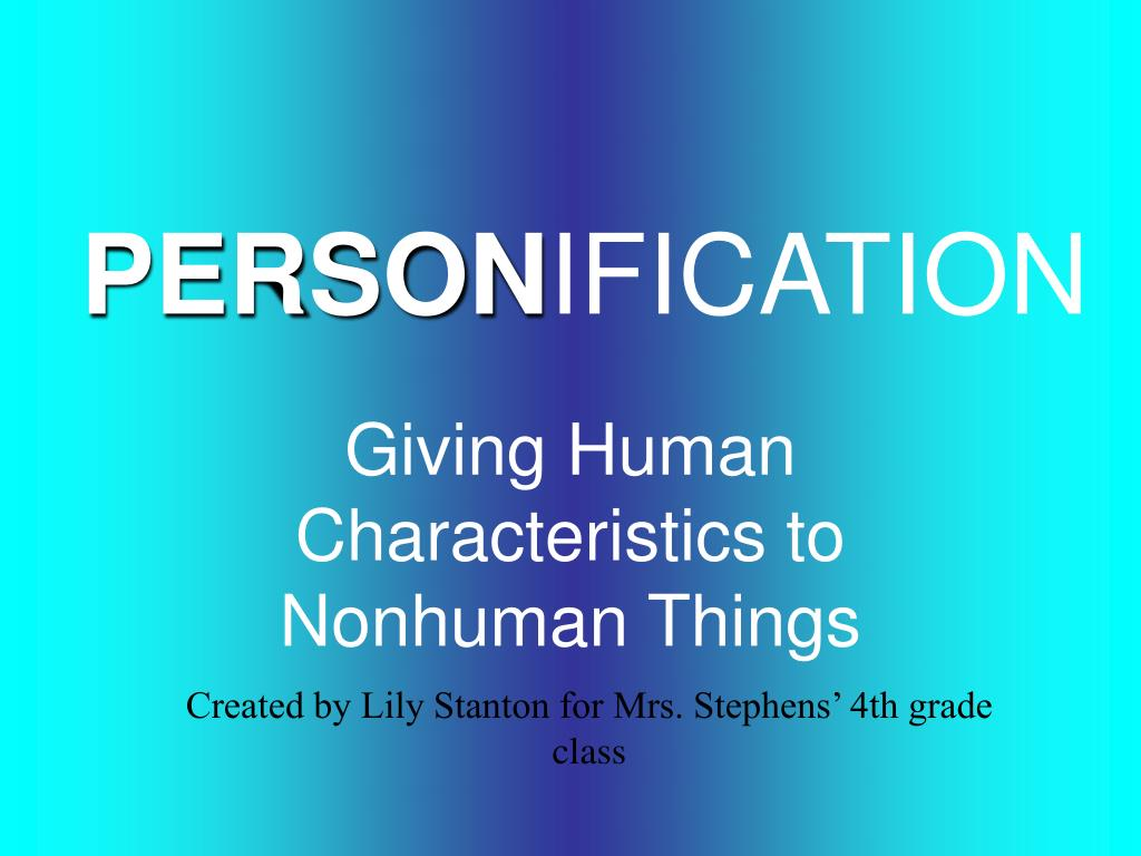 person ification l.