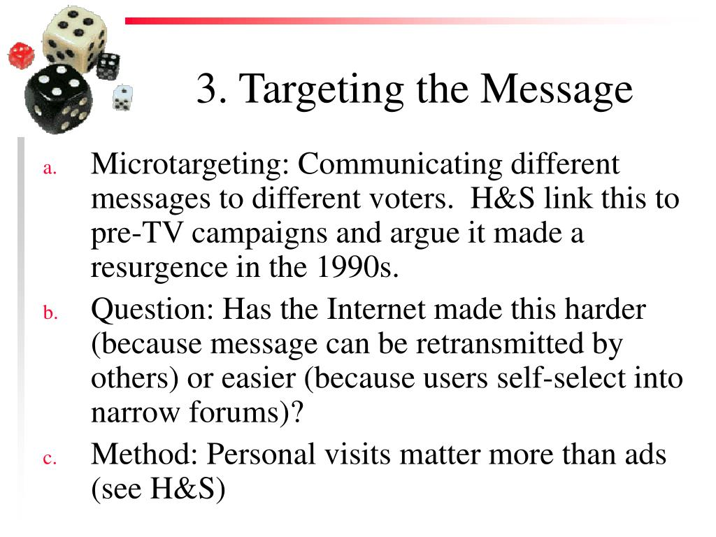 3. Targeting the Message