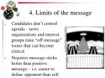 4 limits of the message