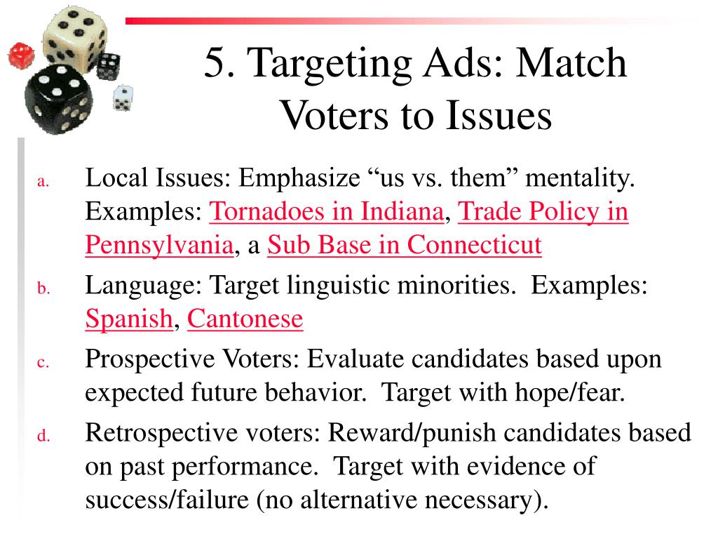 5. Targeting Ads: Match Voters to Issues
