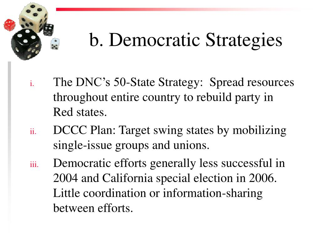b. Democratic Strategies