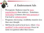 d endorsement ads