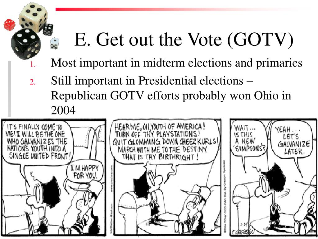 E. Get out the Vote (GOTV)