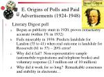 e origins of polls and paid advertisements 1924 1948
